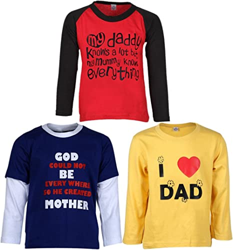 GOODWAY Boys' T-Shirt (Pack of 3)