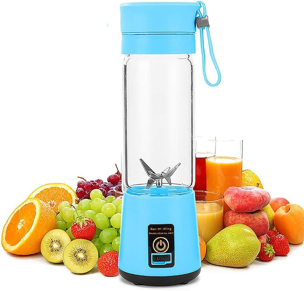 380mL Green Kinberry 380ml Portable USB Electric Fruit Juicer Smoothie Maker Shaker Bottle for Superb Mixing