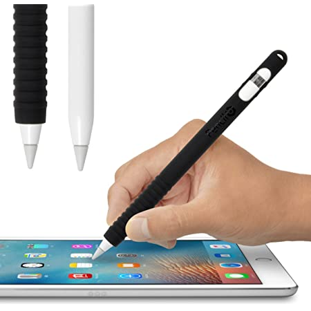 JTTオンライン ペンシルバリア ブラック Apple Pencil カバー ケース シリコン アップルペンシル 保護 グリップ力をアップ シリコン製カバー 充電時のキャップ紛失を防ぐ収納ヘッド搭載 JTT Online APSCPBBK