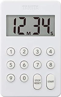 タニタ キッチン タイマー マグネット付き デジタルタイマー 100分計 ホワイト TD-415 WH