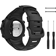 MoKo Suunto Core Watch Band, Classic Replacement Soft Wrist Band Strap with Metal Clasp for...