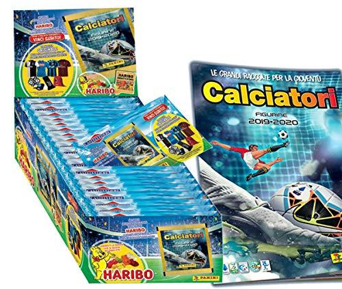 Figurine Calciatori Panini 2019-2020 Esclusive Box Concorso 'Vinci il Calcio 2020'. BOX: 36 Bustine + Album + Caramelle Haribo Orsetti d'Oro 12g. Vinci Maglia e gadget della Tua Squadra del Cuore