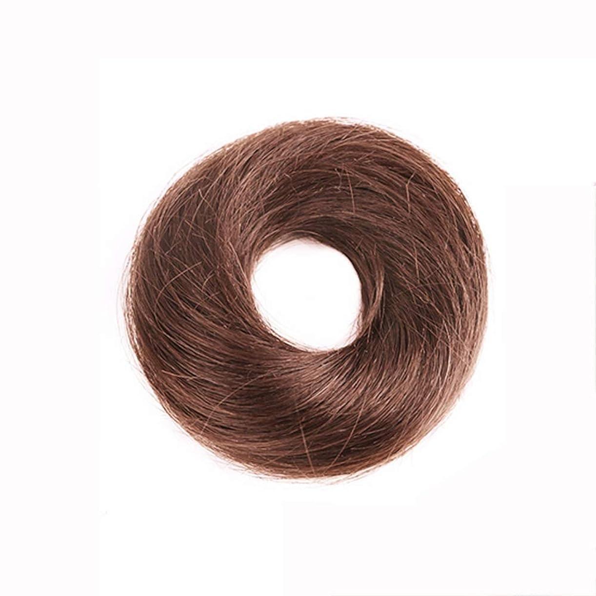 ストライド気がついてささいなQFFL jiafa かつら半球ラウンドヘアストレートヘアストレートネクタイ4色オプション (色 : Light brown)