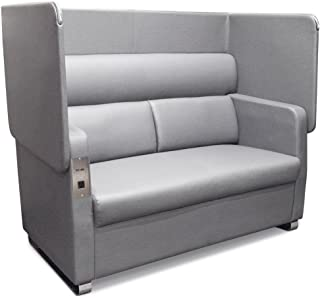 Morph Flip Up Privacy Panel Sofa in Faux Leather Dimensions: 61.50