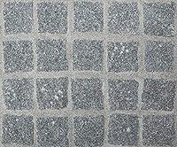 ピンコロ石 御影石 グレー 半丁 ピンコロ 石 グレー御影石 石材 約90×90×50mm 20個セット