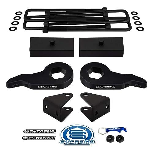 """U-Bolts Kit 4X2 4X4 99-07 GMC Sierra 1500 Aluminum 1/"""" Rear Lift Blocks"""