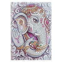 ダイヤモンド塗装 DIYスペシャル形ダイヤモンド絵画フクロウ鳥50ページオフィスノートノートクロスステッチ刺繍スケッチブック (Color : Type D)