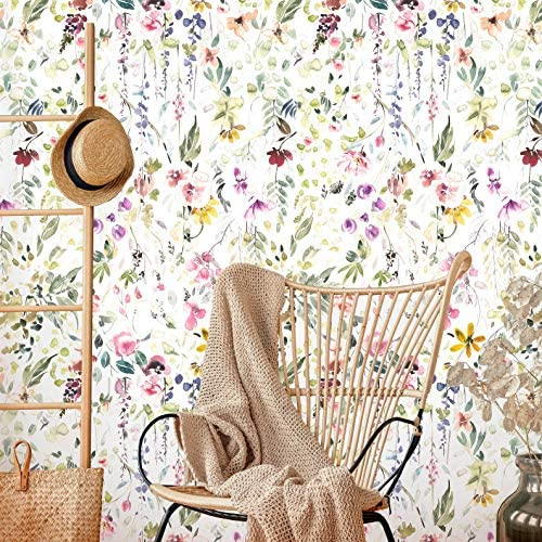 Coloritto Garden Watercolor Peel and Stick Wallpaper Removable Floral Wallpaper Self Adhesive product image
