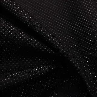 SQINAA Tejido De Silicona Antideslizante para Cojines, Color Liso con Tela De Plástico Punteada Adecuada para Cojines De Sofá Y Cojines Antideslizantes 150X50cm,Negro