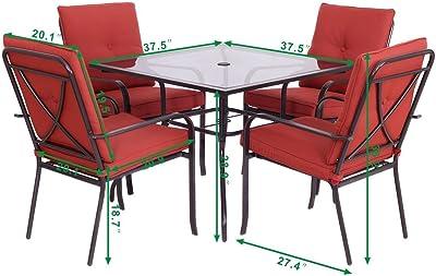 Amazon.com : K&A Company Wicker Rattan Patio Sofa Furniture ...