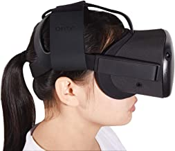 Oritys Adjustable Head Strap for Oculus Quest VR Gaming Headset, Oculus Quest Accessories, Reduce Head Pressure with Comfortable Leather. (Black)