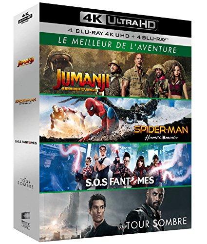 Le Meilleur de l'aventure - Coffret : Jumanji : Bienvenue dans la jungle + Spider-Man : Homecoming + SOS Fantômes + La Tour Sombre [4K Ultra HD + Blu-ray]