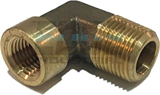 brass male female elbow