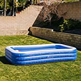 PERLECARE Inflatable Swimming Pools, Family Lounge Pools for Adults, Kids, Babies, Toddlers, Outdoor, Garden, Backyard, 120 x 72 x 22 in