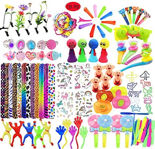 Juguetes de Fiesta Granel lote 120 Pcs para Rellenar piñatas y Bolsas de Regalo Fiestas cumpleaños Infantiles del Partido Favor Niñas niños par Colegio