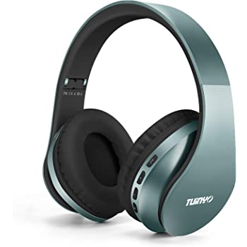 Amazon Com Bluetooth Headphones Tuinyo Wireless Headphones Over Ear With Microphone Foldable Lightweight Stereo Wireless Headset For Travel Work Tv Pc Cellphone Silver Blue Home Audio Theater