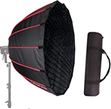 LAOFAS 27.5inch 70cm Deep Parabolic Softbox, Quick-Setup Quick-Folding in 1 Minute, for Aputure 120D II 300D II Godox SL-60W SL-150W FV150 FV200 AD300PRO AD400PRO AD600BM and Other Bowens Mount Light