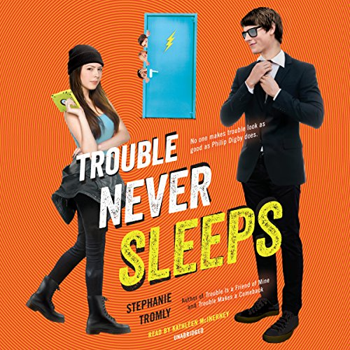 Trouble Never Sleeps audiobook cover art