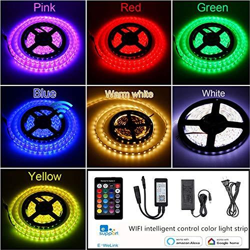 Quark WLAN, draadloos, Smart Phone, led, lichtband, waterdicht, SMD 5050, 10 m, 600 LED's, RGB, muziek, LED, met Android, iOS en Alexa