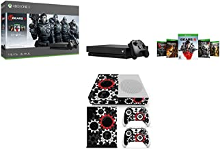 Microsoft CYV-00321 Xbox One X Gears of War 5 with Wireless Controller Bundle with Deco Gear Vinyl Skin Sticker Cover Decal Xbox One S Console and Controllers