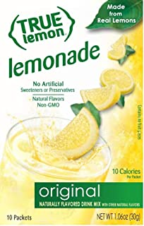 Please change from True Lemon Peach Lemonade 10 Count to correct info True Lemon Lemonade 10 Count