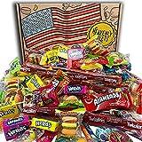 Bonbons Américains Boîte De Fête De Bonbons Américains. 120 pièces! Bonbons Américains Classiques Airheads, Laffy-Taffy, Twizzlers, Nerds, Jolly Ranchers! Bonbon d'Halloween idéal! Forfait 30x20x5cm