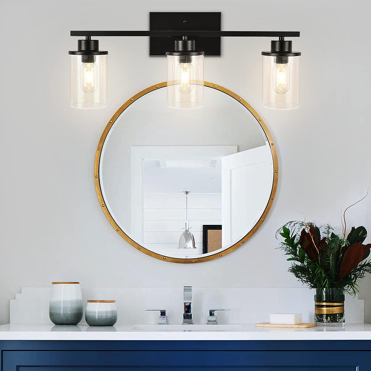 Buy Black Bathroom Vanity Light Fixtures Bathroom Light Fixtures 3 Lights Wall Sconces Industrial Bathroom Light Fixtures Over Mirror Porch Hallway Farmhouse Bedroom Online In Vietnam B08dnvjkh7