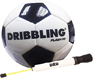 DRB Soccer Flash Ball | New Addition | Official Size 5 - Machine Sewed Durable PVC, Slip Resistant Hold Air, Reflective Soccer Ball for Outdoor/Indoor
