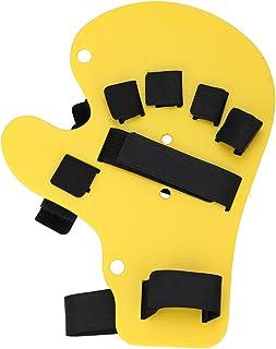 Vinger Orthotics Uitgebreide Type Toets Stroke Hand Pols Spalk Training Ondersteuning voor Mannen & Vrouwen (Geel)