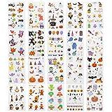 EKKONG 20pcs Halloween Tatuajes Temporales para Niños, Tatuaje Falso Pegatinas Dibujos Animados...