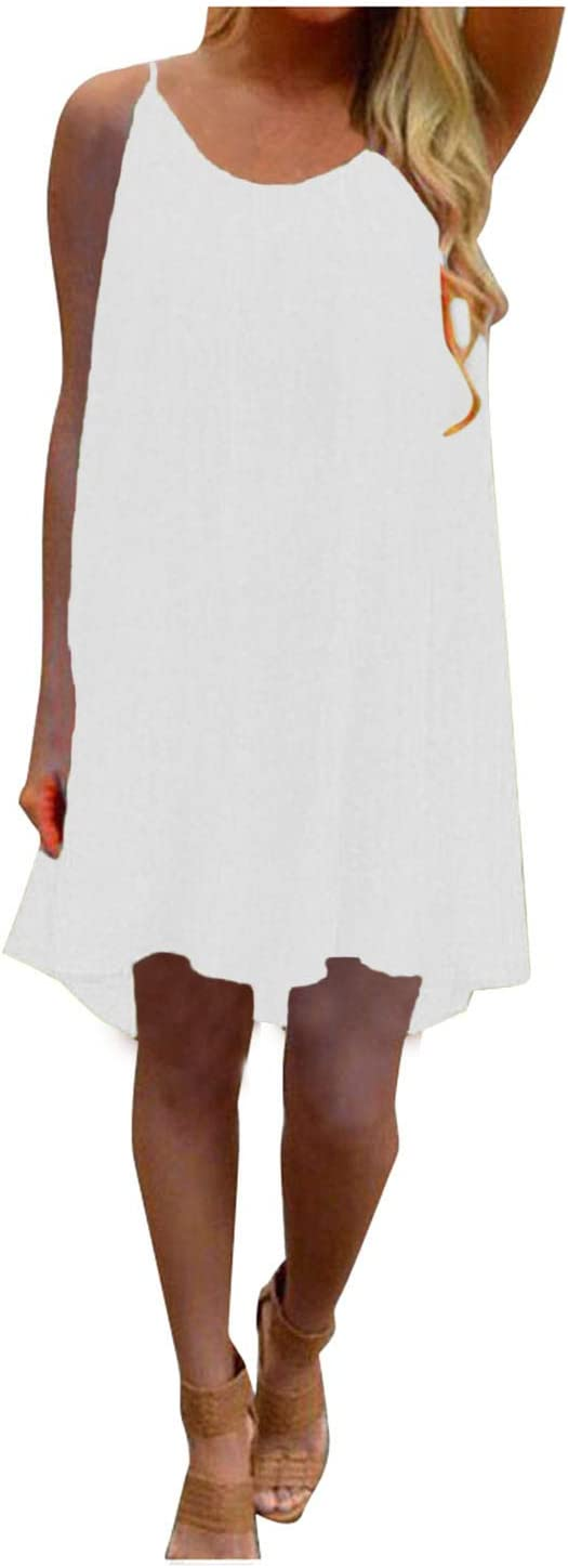 Gwewei4df Large-scale sale Womens Camisol Translated Beach Short Dress Slee Backless Bowknot