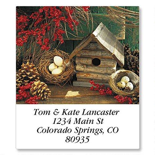 Seasonal Birdhouses Self-Adhesive, Flat-Sheet Select Address Labels (12 Designs)