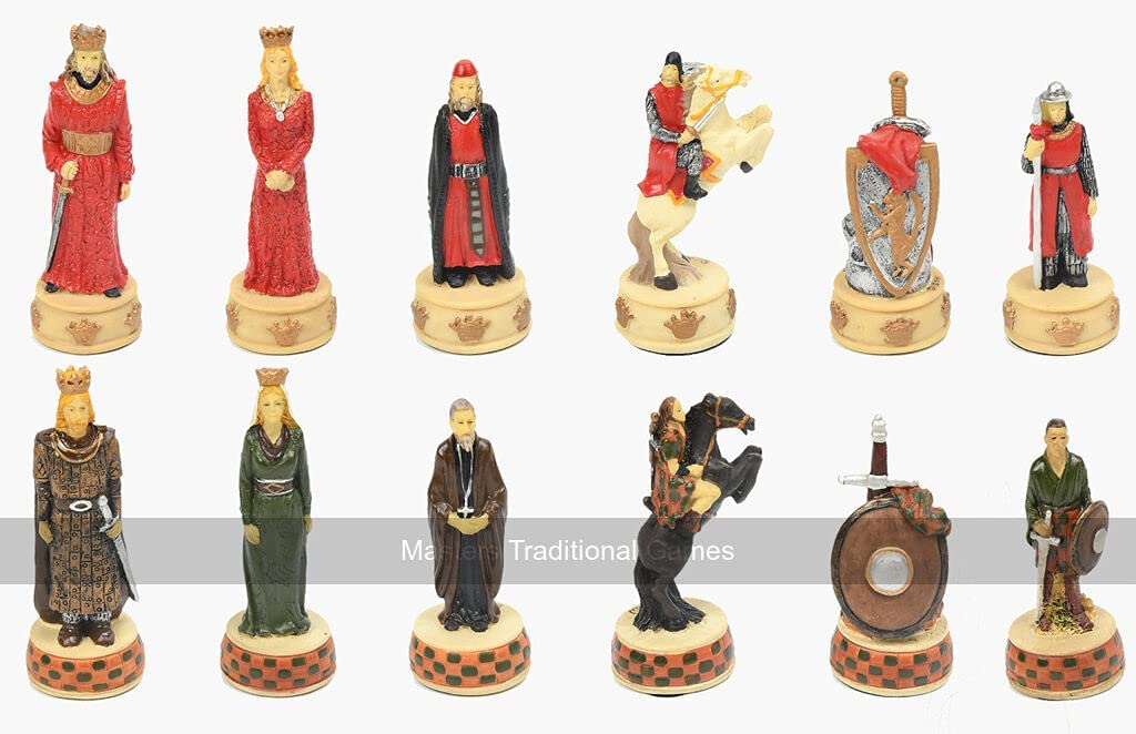 Max 54% OFF Italfama England vs Scotland Chess Resin - Pieces Max 86% OFF Hand-Painted
