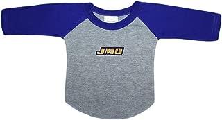 James Madison University JMU Dukes Baby and Toddler 2-Tone Raglan Baseball Shirt