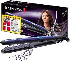 Remington Pro Ion S7710 - Plancha de Pelo, Cer?mica, Digital, Placas Flotantes largas, Tecnolog?a I?nica Triple, Morado y Negro