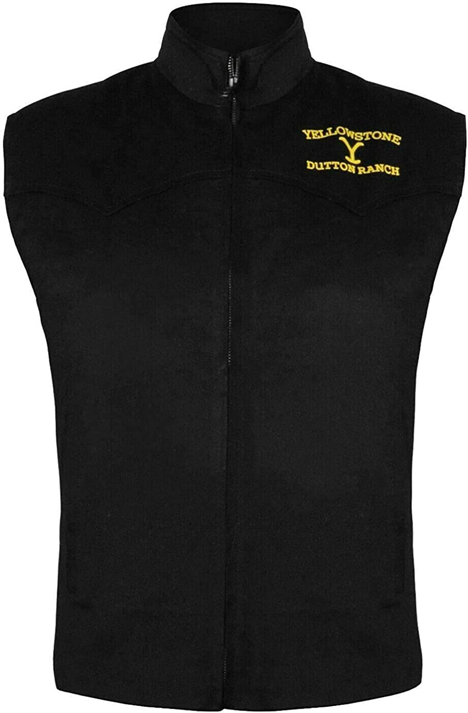 Black Kevin Costner John Dutton Yellowstone Cotton Vest (M)
