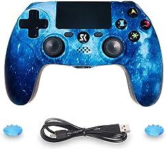 Lioeo Controller Draadloze voor PS4, Controller Bluetooth Dubbele Shock Joystick met Audio Functie, LED Indicator High Per...