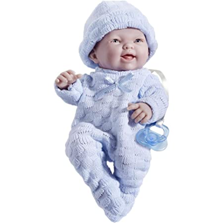 "JC Toys - Mini La Newborn First Day | Anatomically Correct Real Boy Baby Doll | 9.5"" All-Vinyl Baby Doll 