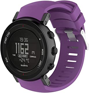 Consumer Electronics Silicone Wrist Strap for SUUNTO Core ALU Black (Black) (Color : Purple)