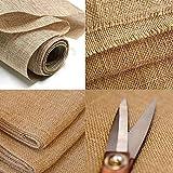 Tela de arpillera natural de yute de 150 cm de ancho, para decoración de boda, tapicería de Accessories Attic Limited (1 metro)