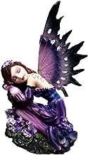 Ky & Co YesKela Dream Eden Fantasy Lavender Fairy Napping Princess Flower Figurine Sculpture