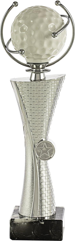 Art-Trophies TP504 Trofeo Deportivo Pelota Golf, Plata, 29 cm