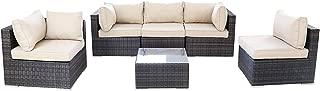 Thinkga Outdoor Rattan Sectional Sofa- Patio Furniture Set (6-Piece)