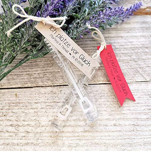 25 Geschenkanhänger Etiketten Tags Seifenblasen Hochzeit verschiedene Sprüche