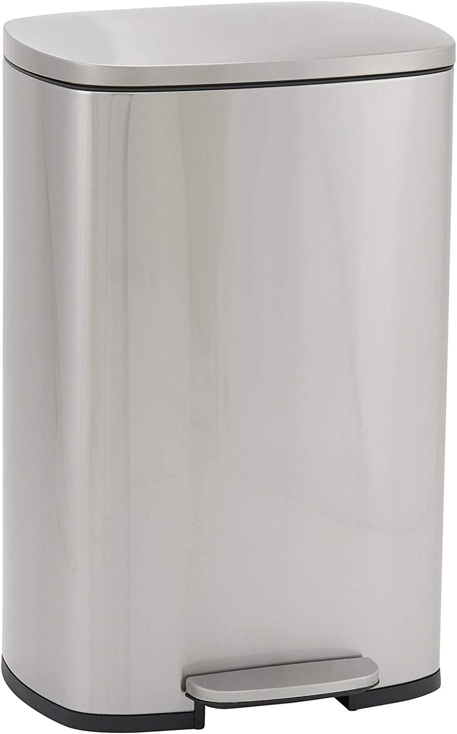 Design Oakland Mall Trend Rectangular Stainless Steel with Long Beach Mall Step Sof Trash Can