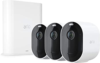 Arlo Pro 3 Wire-Free Security 3 Camera System 2K Resolution with HDR 160° View Indoor and Outdoor