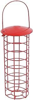 ZHANGXIAOYU Bird Alimentadores Jaula Hueca Patio al Aire Libre balcón metálica diseñada for Colgar el comedero for pájaros...