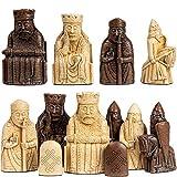 Isle Of Lewis - Juego de ajedrez (2,75 pulgadas, edición King, resina de piedra)