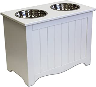 A Pet Project Winter White MDF Large Pet Food Server and Storage Box - 20