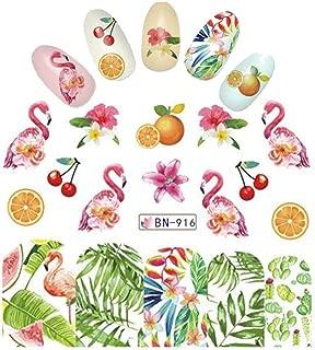 Cherry Orange Watermelon Pink Flamingo Nail Wrap Tropical Decals Sticker Salon Quality Nail Art - 1 Sheet Cherries